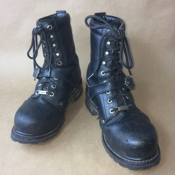 b1959ff4836 HARLEY DAVIDSON | Faded Glory Leather Combat Boots